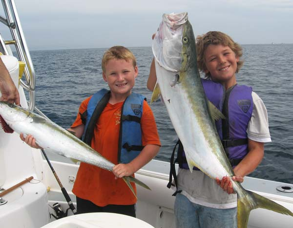 Eli and Gavin with Yellowtail
